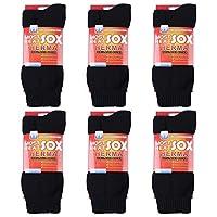 جوارب حرارية للرجال - جوارب شتوية دافئة للرجال والنساء للطقس البارد، درجات الحرارة القصوى أسود size 7-13