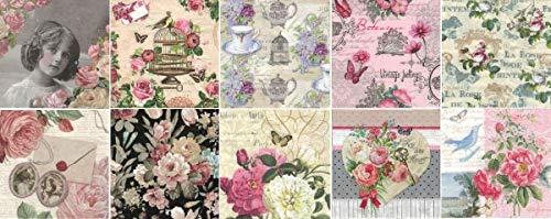 Zita\'s Creative Servietten Set mit Decoupage-Kleber - Vintage Flowers. Decoupage, Serviettentechnik,