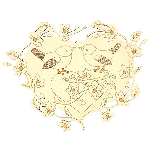 Ventana de imagen/–cuadro pájaro decorativo Pareja en Corazón