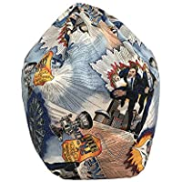 Silla Sacco grande con forma de balón de fútbol para niños, fácil de limpiar,