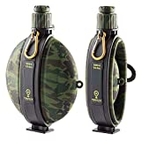 Yalatan Wasserflasche Camping Faltbare Militär-Feldflasche 19,8 Unzen 580 ml Grün