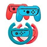 Joycon Kontroller Griff Halter für Switch 4in1 Ersatz Joy Con Lenkrad für Mario Kart Gear Club Unlimited Cars 3 Driven To Win Team Sonic Racing Hello Kitty Kruisers Simulation Rocket Leagu