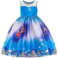 Niño Pequeño Bebé Chica Niño Un Hombro Navidad Papá Noel Imprimir Vestido De Princesa,Lonshell Niñito Chicas Santa Impresión Navidad Trajes Ropa
