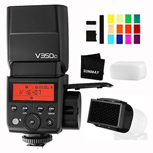 Godox V350C TTL Flash 2.4G GN36 HSS 1/8000s Camera Flash Speedlite with Rechargeable 7.2V/2000mAh Li-ion Battery for Canon Cameras M3 M5 M6 M50 1300D 750D 200D 80D 100D 800D 2000D 4000D
