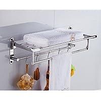 In acciaio inox porta asciugamani pieghevole/portasciugamano/Barra di tovagliolo/[Scaffale da bagno]/ bagno accessori (Porta In Acciaio Inox Indietro Bar)