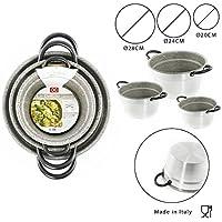 Juego de cocina salsa, Tris olla caldera (aluminio, antiadherente y antiarañazos, diámetro