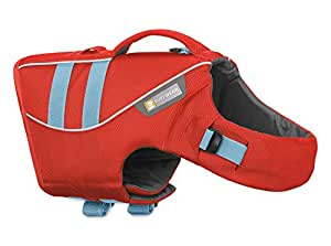 Ruffwear Life Jacket for Dogs, Very Small Breeds, Adjustable Fit, Size: X-Small, Sockeye Red, Float Coat, 45102-601S1