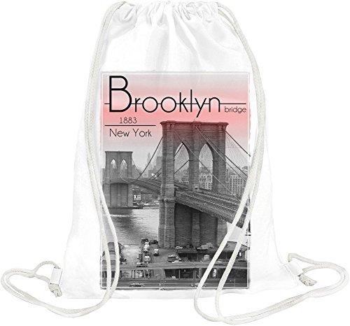 Brooklyn Bridge 1883 New York Drawstring bag (Brooklyn Bridge 1883)