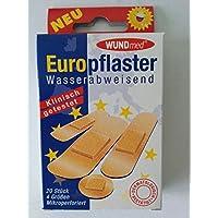 WUNDmed® 02-041 Pflaster 20 Europflaster wasserabw. in 4 Größen preisvergleich bei billige-tabletten.eu