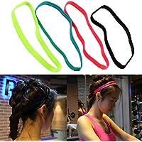 Gugutogo Mujeres Hombres Deportes elásticos Fútbol Antideslizante Yoga Headscarf Hairband Headbands (Color: Negro)