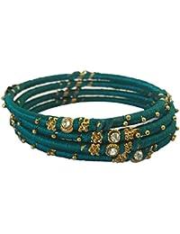 NK Creations Silk Thread Bangle Set For Women (Size: 2.6, NK Creations Silk Thread 1--2.6) - B078M4532Z