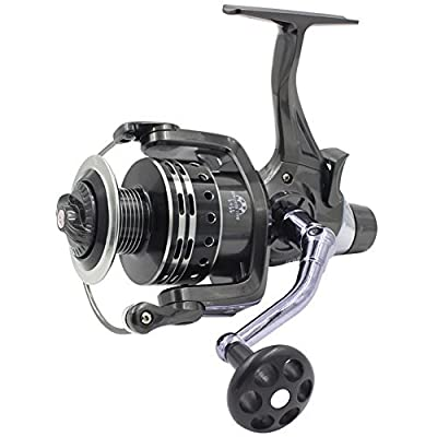 Supertrip IFR6000 Pike Carp Reels Baitrunner Spinning Fishing Reel with Front Drag and Rear Drag 11+1BB Ball Bearing 4.7:1