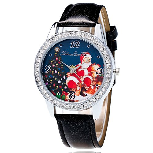 Souarts-Womens-Artificial-Leather-Christmas-Father-Tree-Rhinestone-Quartz-Analog-Wrist-Watch-22cm