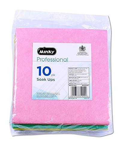 Minky Professionelle Einweichen UPS Reinigungstücher 10 Pack