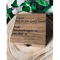 Personalised Engraved Gift Box Pooh And Piglet Quote Disney Jewellery Keepsake Memory Box Birthday Christmas Xmas Gift Handmade Family Present Love Rustic