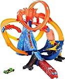 Hot Wheels FTD61 City Vulkanflucht Trackset, motorisiertes Vulkan Looping Spielset mit 1 Spielzeugauto, ab 5 Jahren