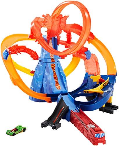 Hot Wheels Escape del Volcán, pista de coches de juguete (Mattel FTD61)