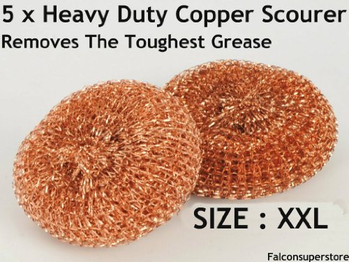 5-x-heavy-dutymetal-copper-scourers-xxl-double-extra-large-free-uk-post-tough-grease-copper-scrubber