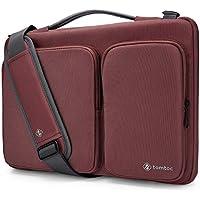 "Tomtoc Original Bolsa de hombro con CornerArmor Patente para portátil de 14"" , funda protectora para de 360 ° para Lenovo ThinkPad de 14"" | Acer HP Chromebook | 15"" MacBook Pro Touch Bar (A1707), roja"