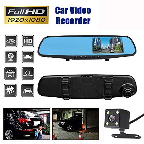 htfrgeds 1080P 720p Full HD 4.3 Zoll Mikrowave Überwachung Auto Kamera,Sensor for NT99141 HDR Nachtsicht Kondensator Car Camera Dash Cam, Autokamera für KFZ Hitzebeständig (Kondensator Car Kit)