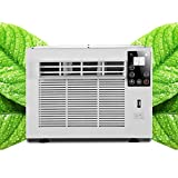 1300BTU Window Air Conditioner,Mini Wall-Mounted Air Conditioner With LED Touch Display,One Button Dehumidification,Illumination and USB Charging,Infrared Remote Control