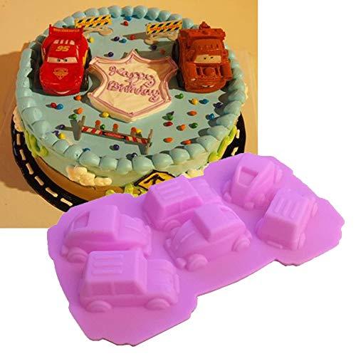 Zoomy far 1PCS Food Grade Carton Cars Form für Kuchen-Formen, Fondant Kuchen dekorieren K050