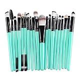 #6: Hihool 20 pcs Makeup Brush Set tools Make-up Toiletry Kit Wool Make Up Brush Set (Black)