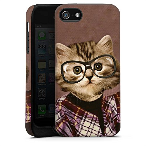 Apple iPhone 4 Housse Étui Silicone Coque Protection Chat Chat Animaux Cas Tough terne