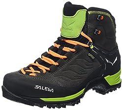 Salewa Ms Mtn Trainer Mid Gtx, Herren Trekking- & Wanderstiefel, Schwarz (Black / Sulphur Spring 0974), 46 EU