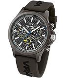 TW Steel Herren-Armbanduhr Chronograph Silikon Schwarz TW936