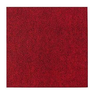 andiamo Self-Adhesive Felt Carpet Tiles Pack (4, 8 or 16m²), 40x40 each, Colour:Red, Size:4 m²