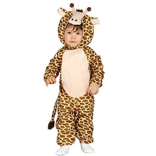 Kinder-Kostüm Giraffe Gr. 68/80 Fleece Overall KInderfasching Kleinkind (Baby Kostüm Giraffen)