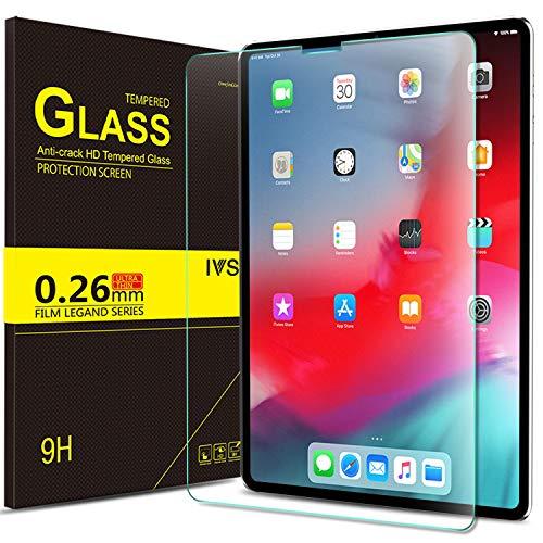 IVSO Panzerglas Schutzfolie Für Apple iPad Pro 11 Mit der Gesichts-ID Arbeiten, 9H Härte, 2.5D, Glas Panzerfolie Displayschutzfolie Für Apple iPad Pro 11 Zoll 2018 Modell, (1 x)