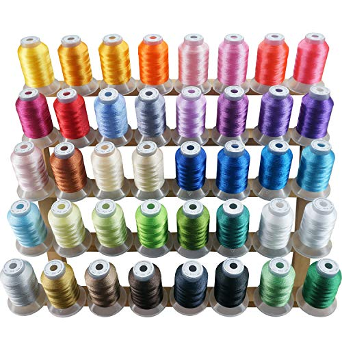 New brothread 40 Brother Couleurs Polyester Fil machine à broder pour Brother / Babylock / Janome / Singer / Kenmore Machine 500M (550Y) / bob
