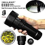 IMALENT DX80 XHP70 Akkus LED Stärksten Flut LED-Suche Taschenlampe Sechs Ausgangspegel + Strobe 5-8 Dateien IPX-8 Standard wasserdicht EU-Stecker-Ladegerät 18650 Batterien