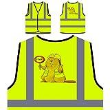 Lustiges Tier im BAU Personalisierte High Visibility Gelbe Sicherheitsjacke Weste v869v