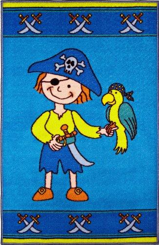 Andiamo 1100121 Kinderteppich Pirat, 80x120cm