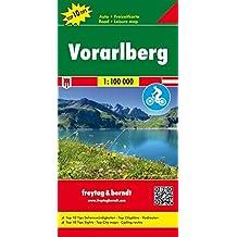 Freytag Berndt Autokarten, Vorarlberg, Top 10 Tips - Maßstab 1:100.000 (freytag & berndt Auto + Freizeitkarten)