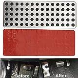 ICTRONIX Car Styling nicht Beleg Fußablage Platte kein Drill Fußstütze Foot Rest plate