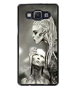 Fuson Alien Girls Back Case Cover for SAMSUNG GALAXY A5 - D3777