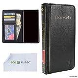 ECO-FUSED Cubierta de Libro Compatible con Samsung Galaxy Note 9 - Estilo Billetera Tarjeta de Crédito y Ranuras - Diseño de enciclopedia para su Dispositivo Moderno - Imitación de Cuero