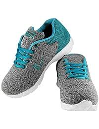Briix Women Grey and Green Mesh Sports Running Walking Training and Gym  Shoes c9c819f753b0