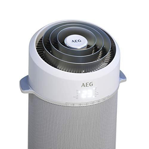 AEG PX71-265WT Eco Mobiles Klimagerät (Klimaanlage, AirSurround-Technologie, Kühlleistung 2,6 kW, Heizfunktion, Ventilator, Entfeuchtungsfunktion, APP-Steuerung) silber/weiß