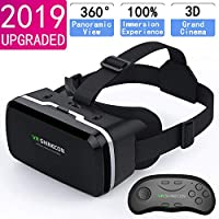HD VR Headset with Remote Controller,3D Glasses Virtual Reality Headset for VR Games & 3D Movies, VR Headset for iPhone & Android Phone 5647391603