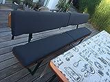 CAMPsit (1 Paar / 2 Stk. für Bierbank)/einmal für die Sitzfläche und einmal für die Rückenlehne/original VW-Bezugsstoff/Wasserabweisend/Kaltschaum 3cm dick/mit Befestigungs- und Fixierungsgurten