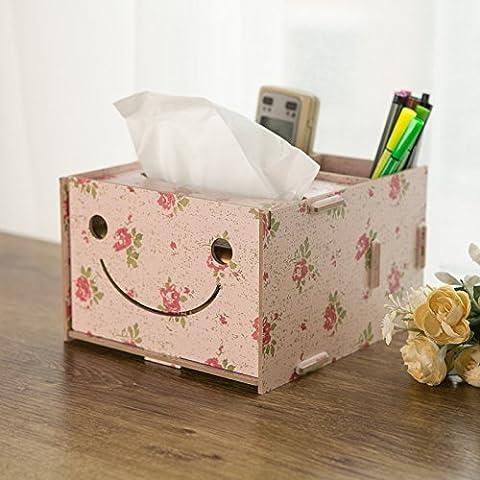Tirar la toalla de papel de la bandeja de cartuchos continental home escritorio creativo de madera elegante mando a distancia todo en uno admitir cartucho , tire de la bandeja camelias