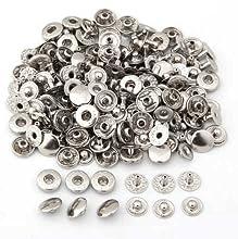 SODIAL(R) 50X Set Botones de Presion Cierre Metal Fornituras para Pulsera