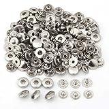 50X Set Botones de Presión Cierre Metal Fornituras para Pulsera