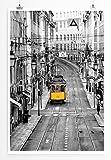 EAU ZONE Home Bild - Naturbilder – Gelbe Straßenbahn in Lissabon Portugal- Poster Fotodruck in höchster Qualität