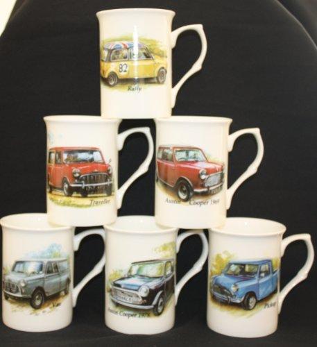 - Set von 6einzelnen Fine Bone China zum Sammeln Classic Mini Auto Becher Tassen Geschenk-Set (Mini Bone China)